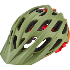 Lazer Magma+ Casco, matte khaki/orange